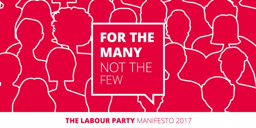 Labour's campaign message, for the launch of their manifesto.