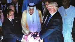 Trump Touched A Glowing Orb In Saudi Arabia And Folks Found It Just A Bit