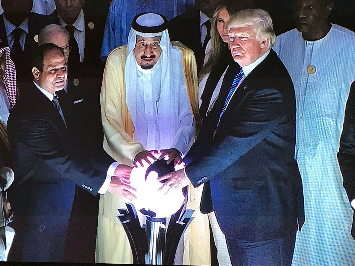 Bruno Matos Gallery: Trump Touched A Glowing Orb In Saudi Arabia And Folks