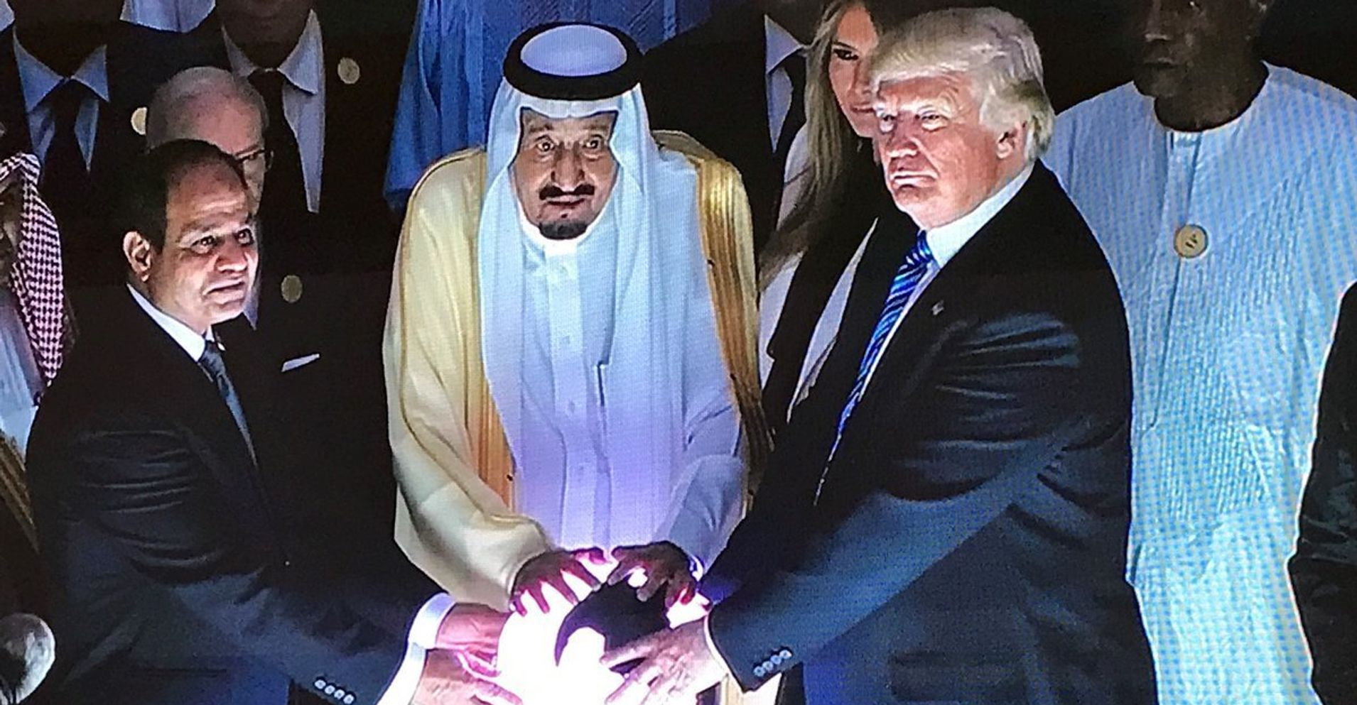 Trump Touched A Glowing Orb In Saudi Arabia And Folks Found It Just A Bit Odd