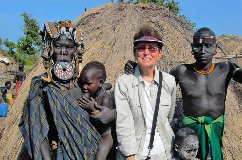 Audrey Walsowrth in the Omo Valley, Ethiopia