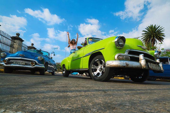 A ride in a classic American car is a cliche but a necessity when visiting Cuba