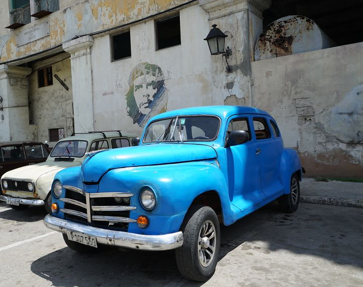 Images of national hero Che Guevara are ever present