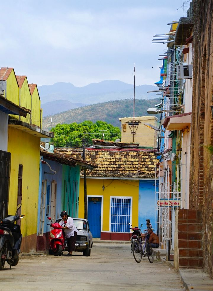 The buildings in Trinidad are some of the most colorful you will ever see