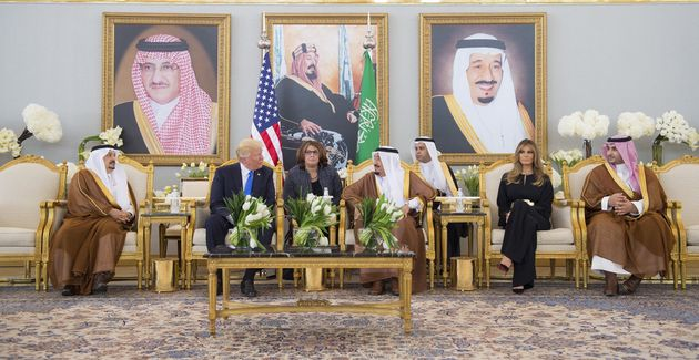 Melania Trump is one of a string of female dignitaries to forgo wearing a headscarf while in Saudi