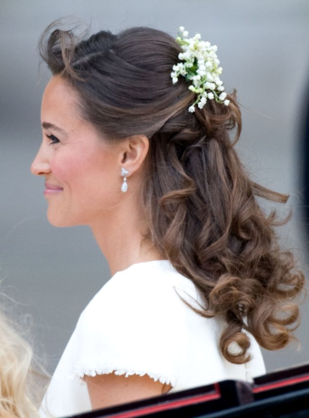 Pippa Middleton wears the Robinson Pelham earrings for the marriage of Their Royal Highnesses Prince...