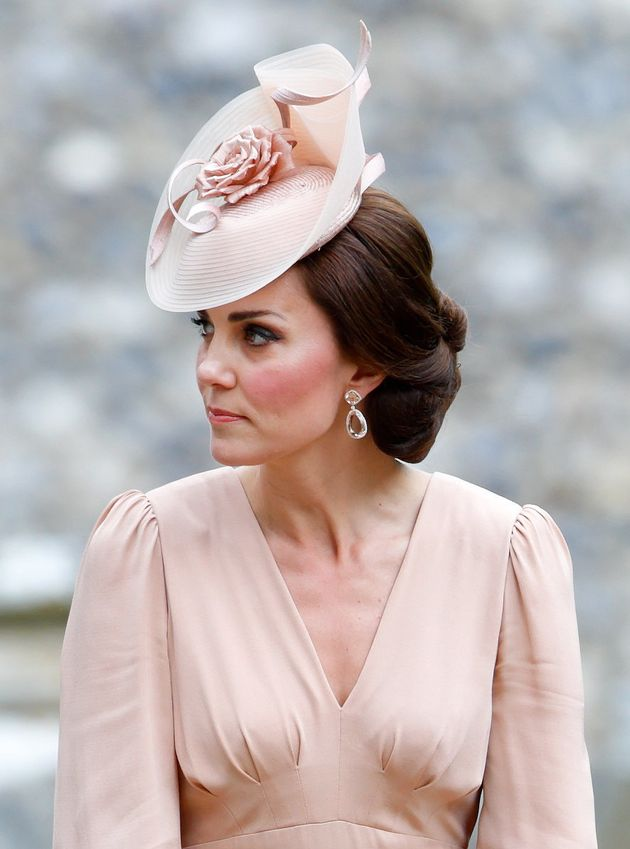 Catherine, Duchess of Cambridge attends the wedding of Pippa Middleton and James Matthews at St Mark's...
