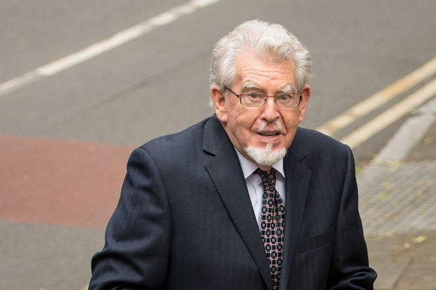 Rolf Harris arrives at Southwark Crown Court on Monday