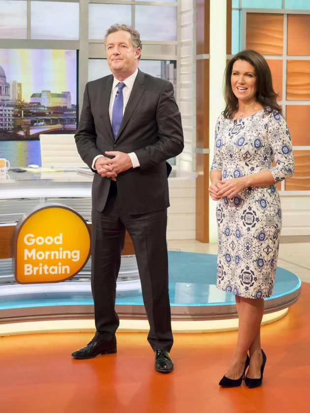 Piers with his Good Morning Britain co-host Susanna