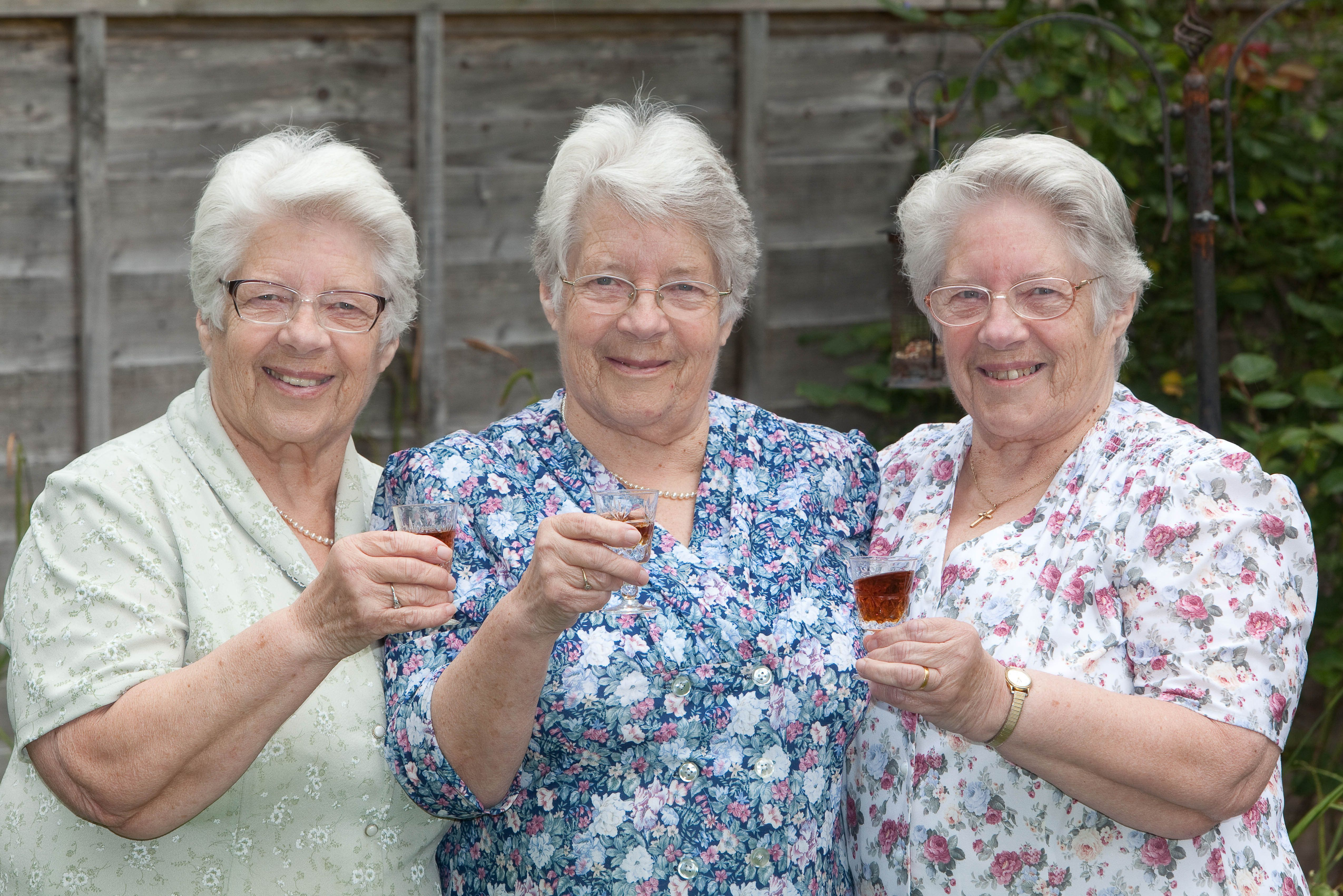 Britain's Oldest Triplets Celebrate 80th Birthday Together