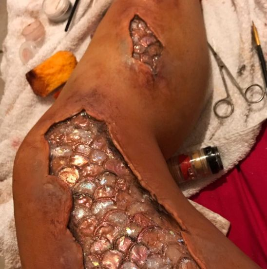 This Makeup Artist Created An Incredible Mermaid Leg, And It's Both Gory And