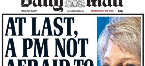 Daily Mail Mocked For Front Page Heralding Theresa May's Manifesto