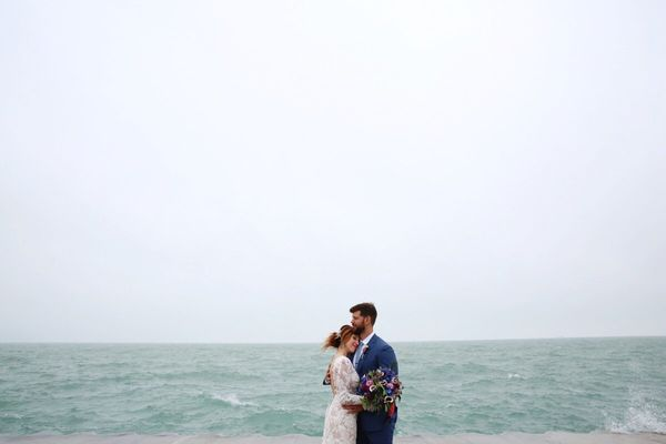 """""""Congratulations, Karissa andAndrew, who were married Saturday in Chicago."""" --<i>Leah Moyers</i>"""