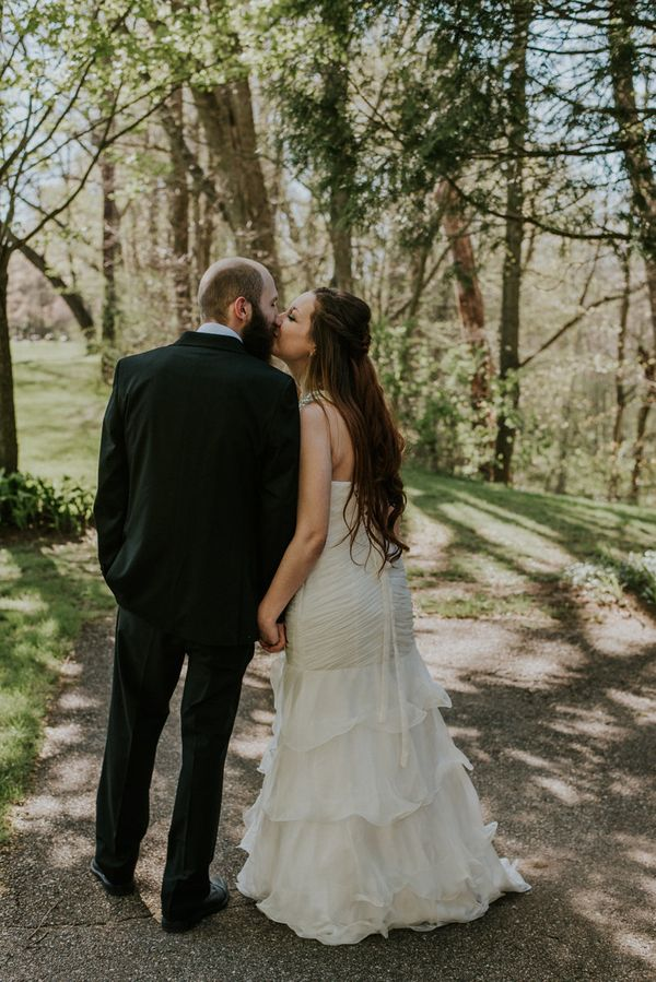 """Laura andAndrew's small, intimate wedding in Fallasburg Park in Lowell, Michigan."" --<i>Kendra Lynece</i>"
