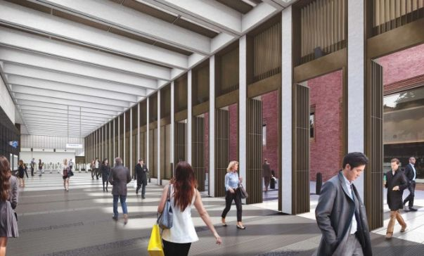 An artist's impression of the new station at Bond
