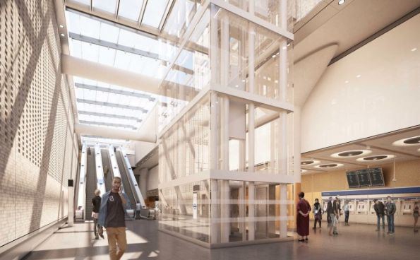 The new Crossrail station at