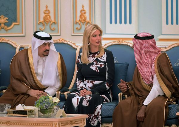 Ivanka Trump is seen at the ceremony where her father received the Order of Abdul-Aziz Al Saud medal at the Saudi Royal Court