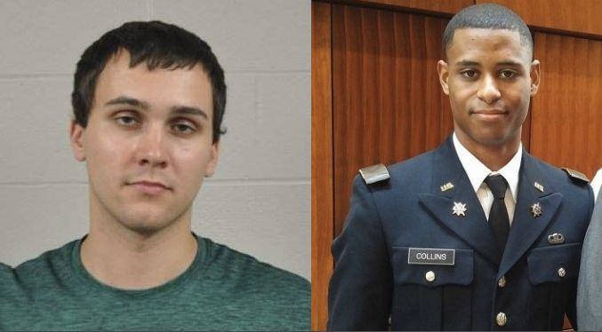 Sean Christopher Urbanski (left) has been charged with the murder of Richard Collins III (right).