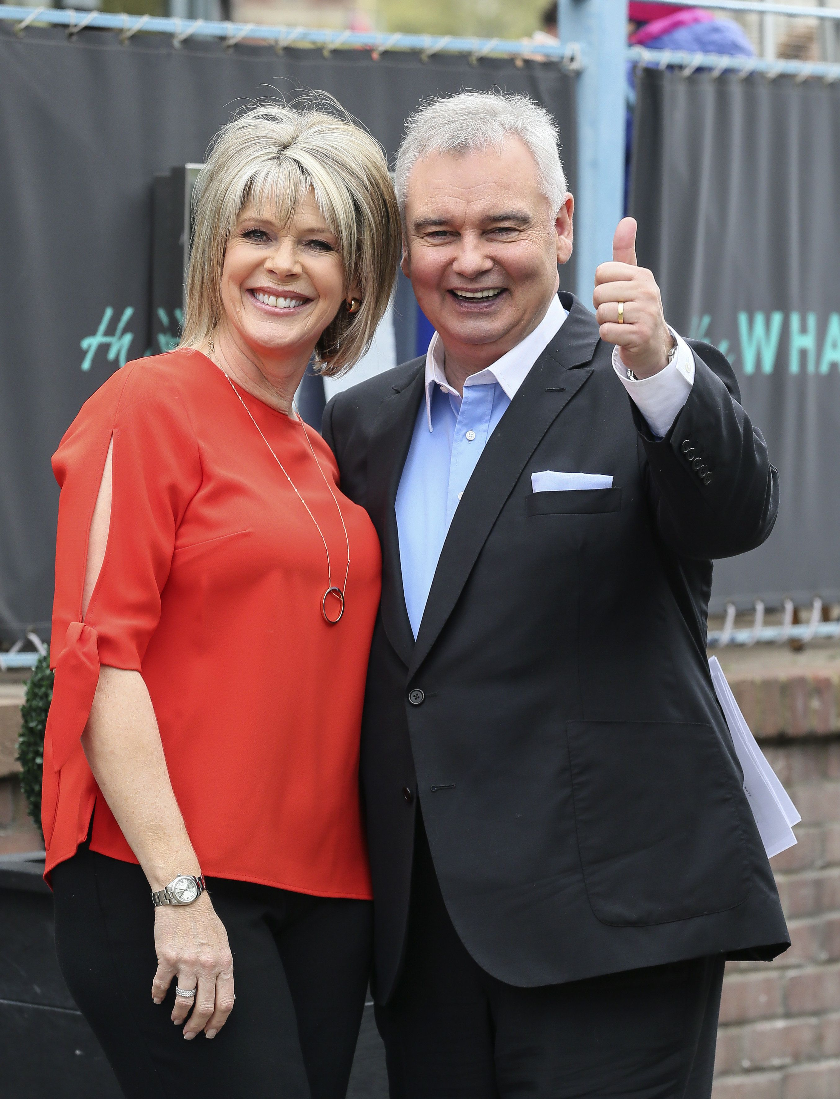 Satisfied: Ruth Langsford and Eamonn