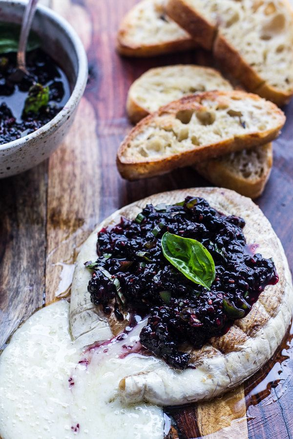 "<strong>Get the <a href=""http://www.halfbakedharvest.com/grilled-brie-blackberry-basil-smash-salsa-grilled-bread/"" target=""_b"