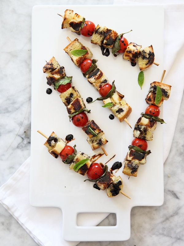 "<strong>Get the <a href=""http://www.foodiecrush.com/2013/07/grilled-caprese-skewers/"" target=""_blank"">Grilled Caprese Skewers"