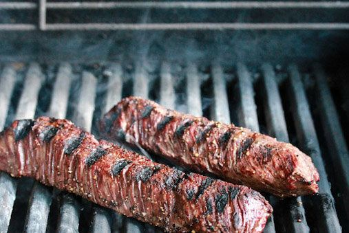 "<strong>Get the <a href=""http://www.aspicyperspective.com/2012/06/hanger-steak-chimichurri-sauce-recipe.html"" target=""_blank"""