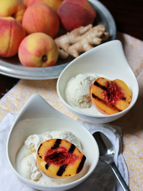 "<strong>Get the <a href=""http://www.aspicyperspective.com/2012/08/grilled-peaches-ginger-ice-cream.html"" target=""_blank"">Gril"