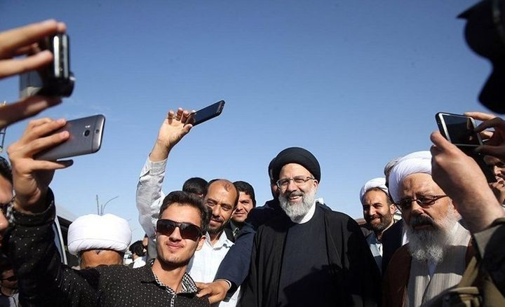 Ebrahim Raisi tours for his presidential election campaign in Birjand, South Khorasan Province.