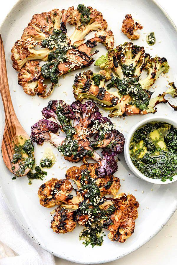 "<strong>Get the<a href=""http://www.foodiecrush.com/grilled-cauliflower-steaks/"" target=""_blank"">Grilled Teriyaki Caulif"