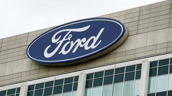 The Ford Motor Co. headquarters stands in Dearborn, Michigan, U.S., on Tuesday, May 22, 2017. Ford Motor Co.is replacing embattled chief executive officerMark FieldswithJim Hackett,a turnaround specialist who has been leading the automaker's moves into self-driving cars and ride sharing. Photographer: Jeff Kowalsky/Bloomberg via Getty Images