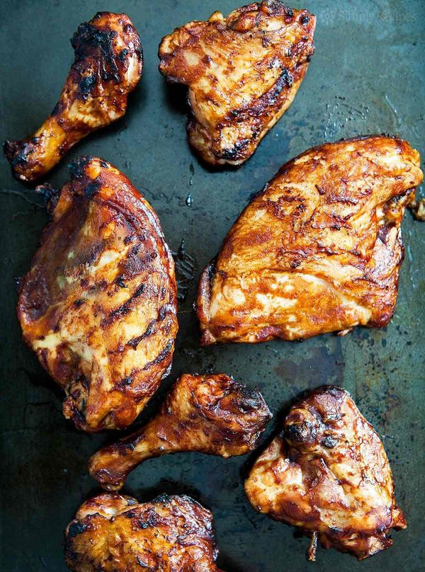 "<strong>Get the <a href=""http://www.simplyrecipes.com/recipes/barbecued_chicken_on_the_grill/"" target=""_blank"">Barbecued Chic"