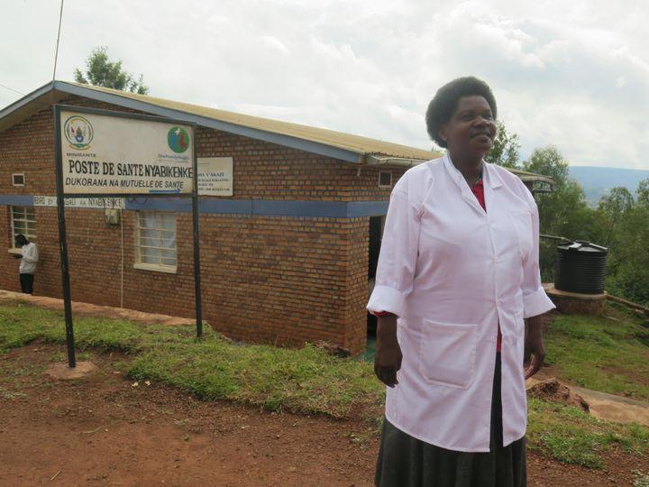Nurse  Euphrasie Mukanturo, working for OneFamilyHealth.