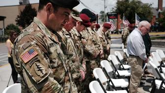 MORGANTOWN, WV - MAY 18:  Area residents and members of the military participate in the 'Tribute To Heroes' ceremony which celebrates the sacrifices area veterans have made for the country on May 18, 2017 in Morgantown, West Virginia. West Virginia, a state where President Donald Trump won in a landslide by defeating Hillary Clinton 67.9 percent to 26.2 percent, is also one of the nations poorest states where nearly one in five West Virginians struggled to afford basic necessities in 2015. The state was historically dependent on coal mining and manufacturing. With coal mines closing, the state has witnessed a surge in male unemployment and an epidemic of opioid use among its population.  (Photo by Spencer Platt/Getty Images)