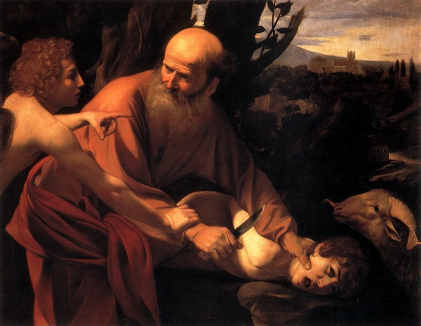 Caravaggio. The Sacrifice of Isaac.