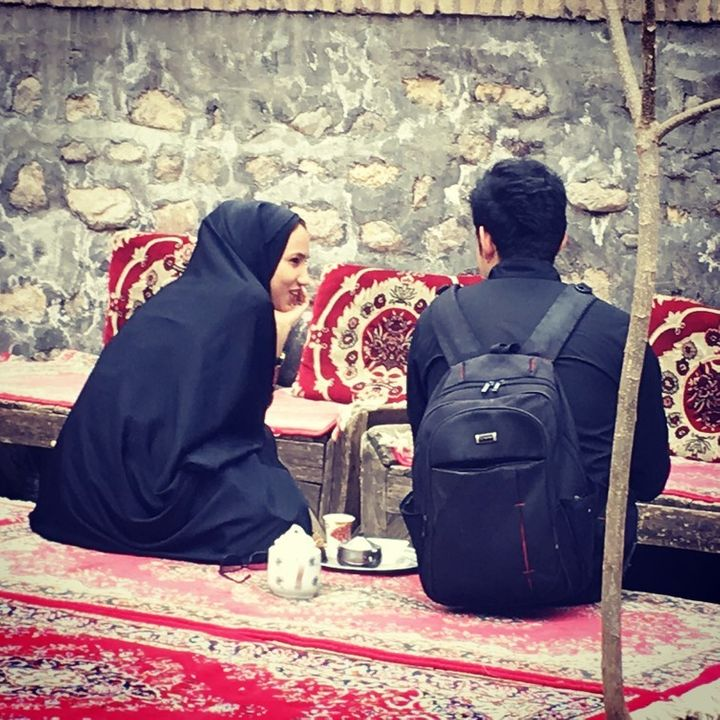 Occupying the public sphere in Iran.