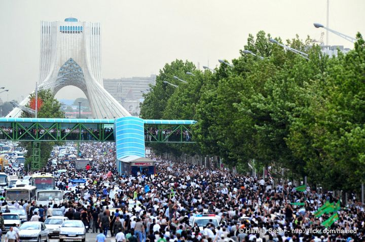 The third day of the 2009 Green Movement in Tehran.