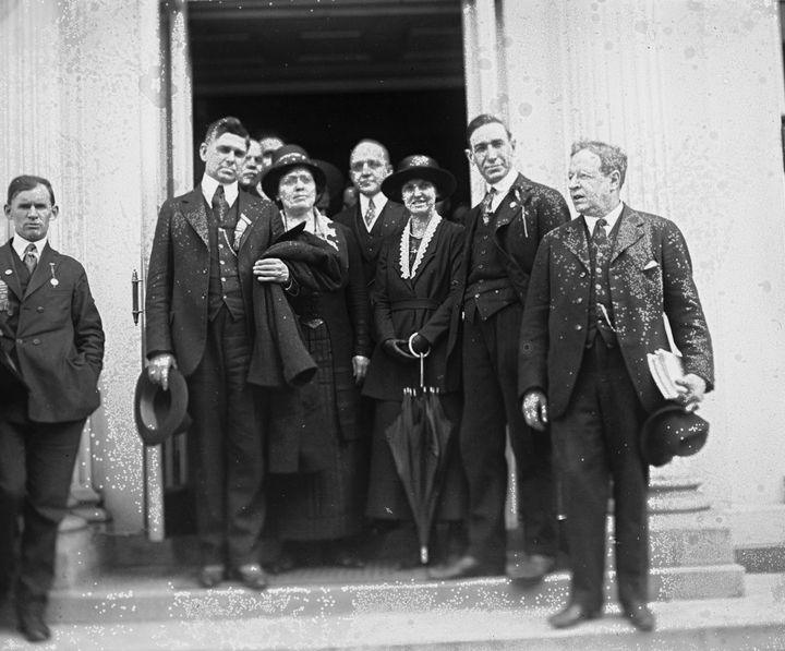 Socialist group at the White House, May 15, 1920.