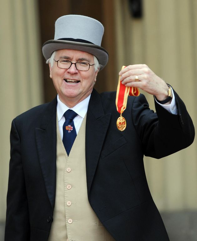 Sir Bob Russell collecting his