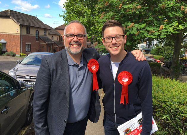 Tim Young, left, with former Labour candidate Jordan