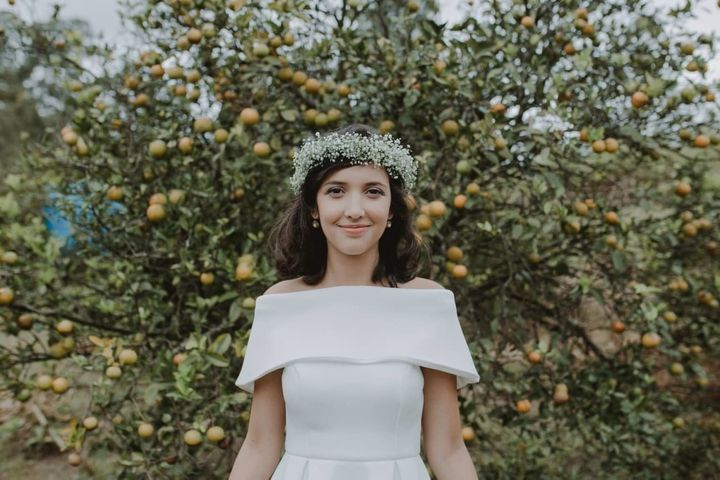 Rebeca Sinohara on her wedding day.