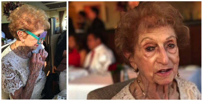 Beatrice celebrating her 99th birthday