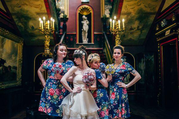 "<i>Dresses by <a href=""https://www.cathkidston.com/"" target=""_blank"">Cath Kidston</a></i>"