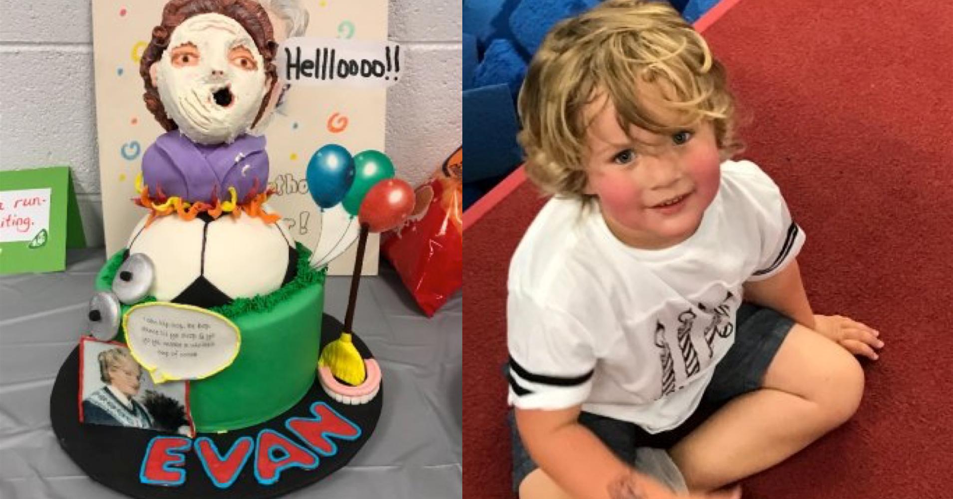 Mrs Doubtfire Birthday Cake