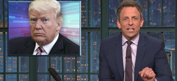 Seth Meyers Trolls Trump Over Middle East Trip Flubs