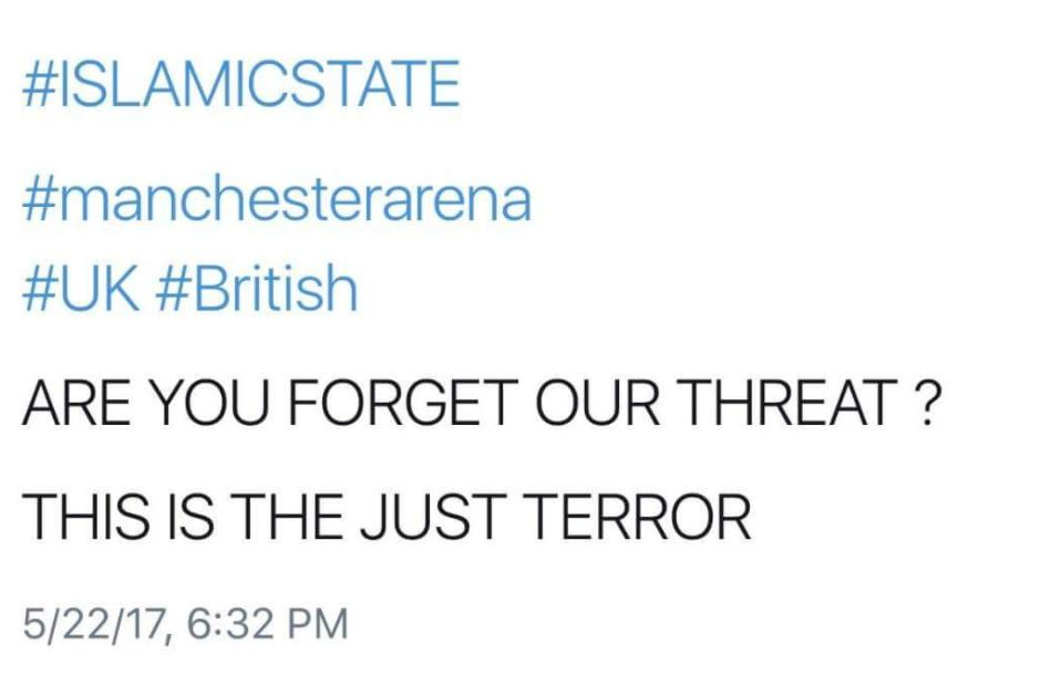 Tweet 'Warning Of Manchester Arena Attack Sent Hours Before