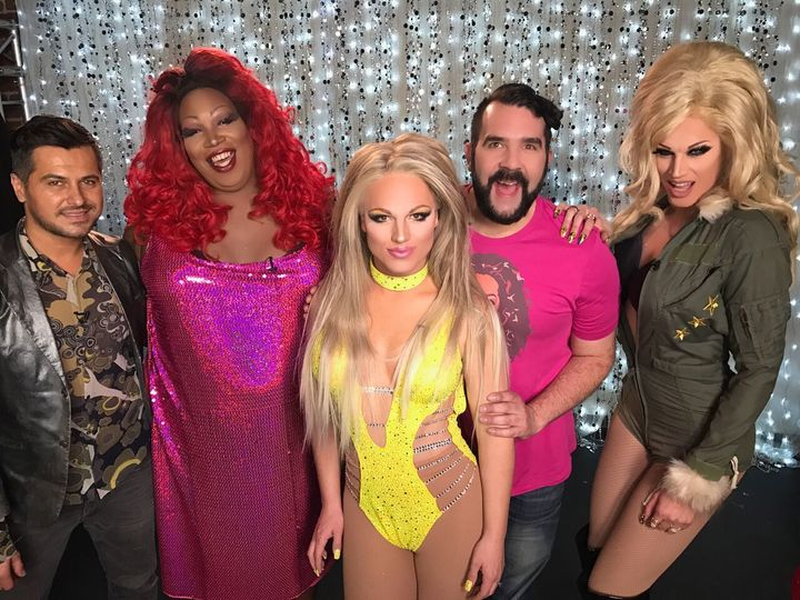 Nick San Pedro, Lady Red Couture, Derrick Barry, Jonny McGovern and Nebraska Thunderf*ck on Hey Qween