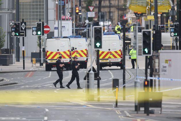 The area remained cordoned off on Tuesday