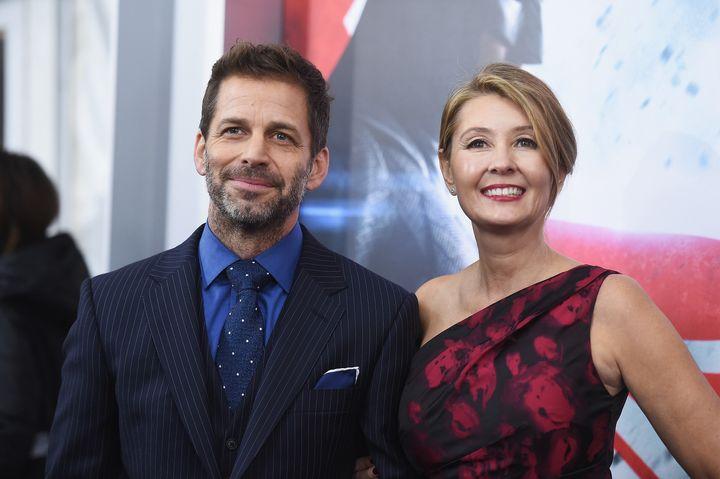 "Zack Snyder and Deborah Snyder attend the ""Batman V Superman: Dawn Of Justice"" premiere."