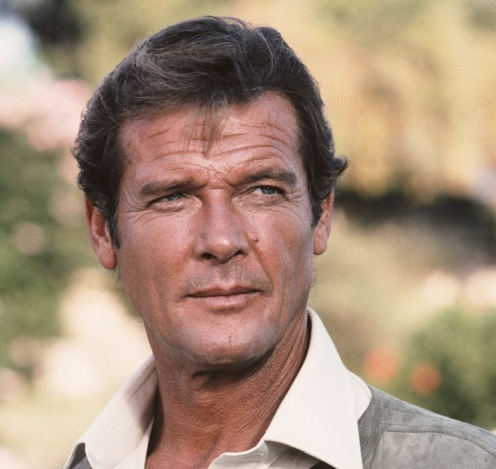 """Roger Moore as James Bond on set of """"For Your Eyes Only,"""" 1981."""