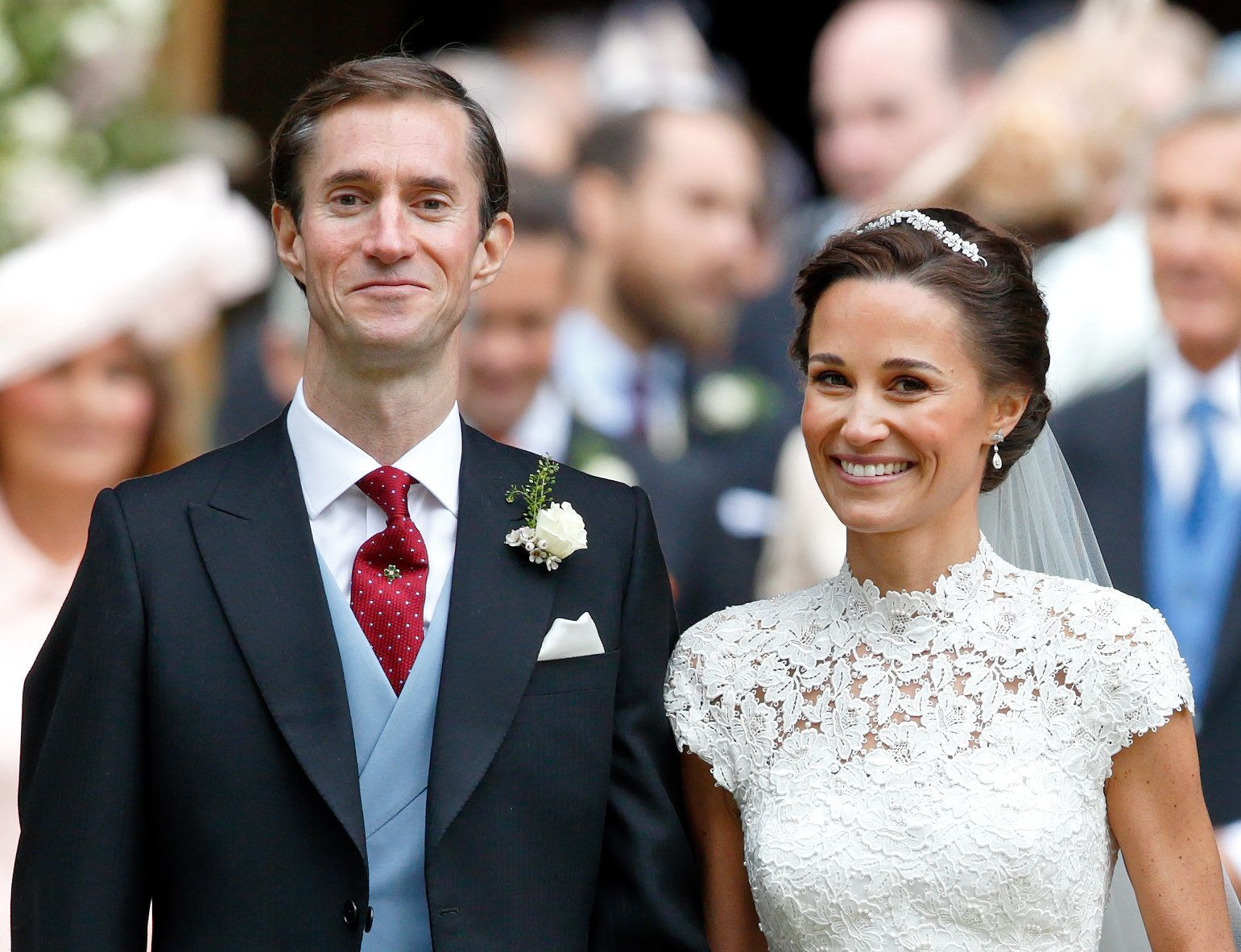 James Matthews and Pippa Middleton leave St. Mark's Church after their wedding on May 20, in Englefield Green, England.